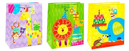 TSI 86314 cadeauzakje Tierparty, verpakking van 12 stuks, afmetingen: groot (32 x 26 x 13,5 cm)