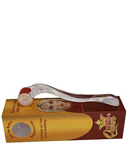 Dermaroller von Pipper\'s Queen - 540 Nadeln aus Titan - Titannadeln 0,5mm - Microneedling für Gesicht und Körper Gegen Falten - Anti Age - Narben - Schwangerschaftsstreifen - Hyper-Pigmentierung