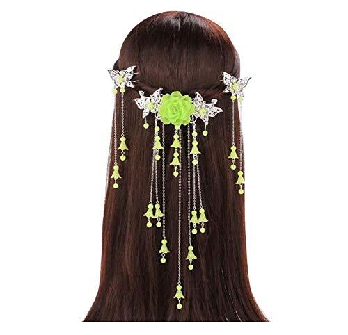 Longue épingle à cheveux à la main, accessoires anciens, coiffe Hanfu Cosplay, B06