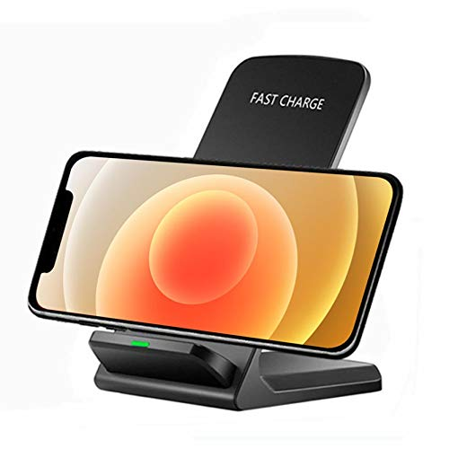 Fanhua Wireless Charger, Qi-Certified 10W Max Fast Charging Station, Compatible with iPhone 12/Mini/Pro/Max