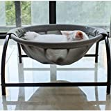 Katzenbett, Hundebett, Haustier-Hängematten-Bett, freistehend, Katzenbett, Katzenzubehör, Haustierbedarf, ganze Wäsche, stabile Struktur, abnehmbar, (grau)