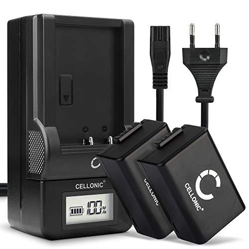 CELLONIC® 2X Batería DMW-BMB9E Compatible con Panasonic Lumix DC-FZ82 DMC-FZ72 FZ70 DMC-FZ100 FZ150 DMC-FZ45 FZ40 FZ47 FZ48 DMC-FZ62 FZ60, 800mAh + Cargador rápido bateria de Repuesto Pila