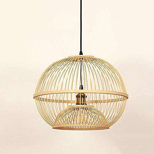 Lámpara de techo con luz colgante de cúpula creativa Nueva araña china Zen Restaurante de estilo japonés Luz Casa de té Comedor Casa de familia Iluminación Mimbre Diy Tejido a mano Lámpara de bambú Ar