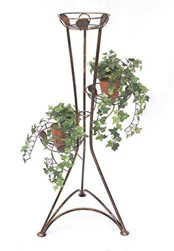 DanDiBo Blumentreppe Metall 100 cm Blumenständer Art.129 Blumenregal Pflanzensäule Pflanzenständer Pflanzentreppe