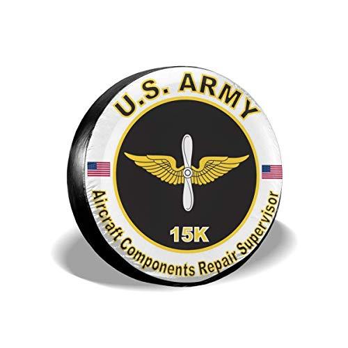 Army Mos 15K A-I-Rcraft Components RepA-I-RER Supervisor Cubierta de llanta de Repuesto Cubiertas universales para Llantas de Ruedas aptas para remolques RV SUV de 15 Pulgadas