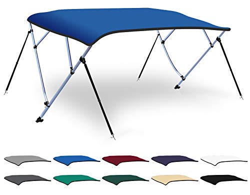 Save %10 Now! XGEAR 3-4 Bow Bimini Top Boat Cover with 4 Straps, Mounting Hardwares and Storage Boot...