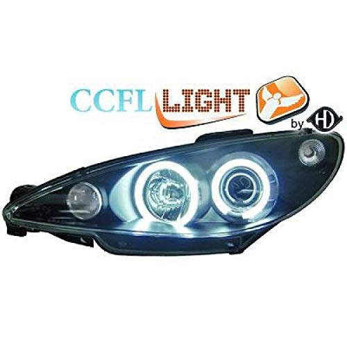 CCFL Scheinwerfer Set mit Angel Eyes Peugot 206 CC 98-02