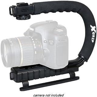 Opteka X-GRIP - Soporte de vídeo para cámara Canon EOS 1D 1Ds 5D Mark 2 3 II III 6D 7D 70D Rebel SL1 XT XTi XS XSi T1i T2i T3 T3i T4i T5 T5i SX40 SX50 IS HS