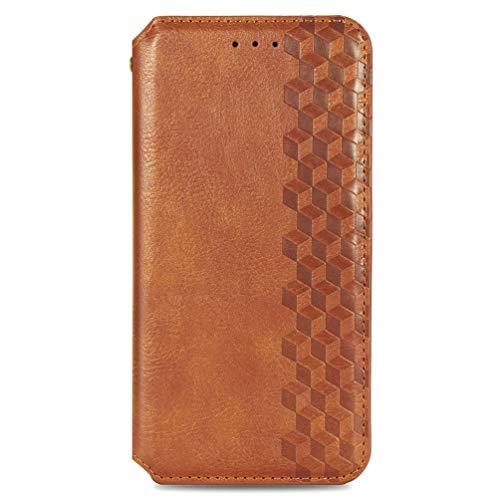 KERUN Hülle für Xiaomi Poco X3 Pro   X3 NFC, Leder Flip Klappbar Lederhülle, TPU Folio Flip Wallet Cover Stand [Kartenslots] Schutzhülle Hülle für Xiaomi Poco X3 Pro   X3 NFC. Braun