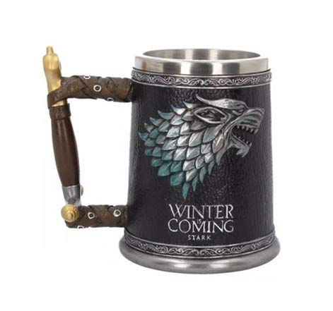 PERFECTLIFE Game of Thrones Winter is Coming Tankard Unisex Bierkrug Mehrfarbig, Fan-Merch, TV-Serien
