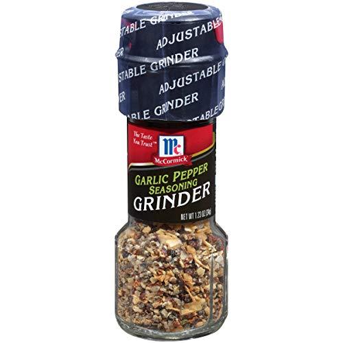 McCormick Garlic Pepper Seasoning Grinder, 1.23 oz (Pack of 6)