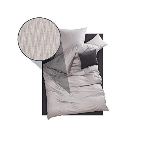 DORIS MEYER Interlock-Jersey Bettwäsche Kalli Kiesel Kissenbezug einzeln 80x80 cm