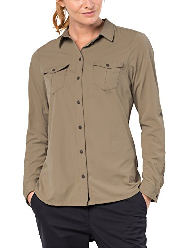 Jack Wolfskin Women's Atacama Roll-Up Shirt Long Sleeve, XX-Large, Sand Dune