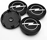 Auto Protección Accesorios 4 Piezas Tapacubos, para OPEL Corsa e Ampera Astra Insignia Combo Vivaro Mokka 60mm Auto Modificadas Accesorios Tapacubos Prueba Polvo Impermeable