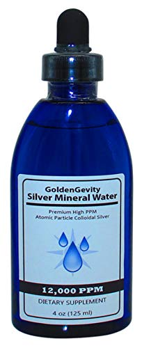 12000 PPM Atomic Particle Colloidal Silver (4 oz.) 1200 Times More PPM Than Other Products - Trace Mineral Colloidal Silver - Pure Mineral Supplement - High PPM Colloidal Silver