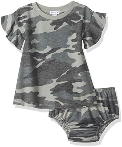 Splendid Baby and Toddler Girls Dress Set Short Long Sleeve Dusty Olive Camo 18 24 Months product image