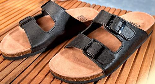 Sandalen met diep voetbed zwartmaat 39
