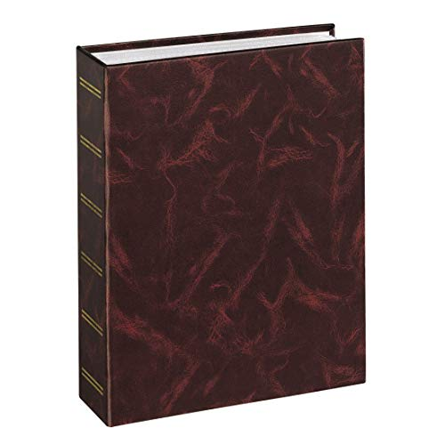Hama Einsteckalbum Birmingham (Fotoalbum für 200 Bilder im Format 9x13 cm, Fotobuch zum Einstecken) burgund