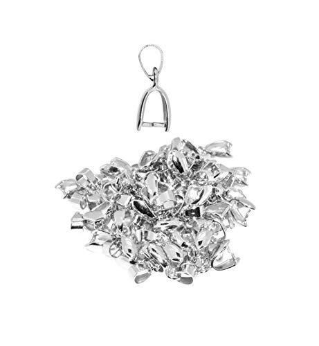 Mandala Crafts Bead Charm colgante Metal cierre conector clip de pellizco fianza Kit de encontrar para fabricación de joyería, pack de 50