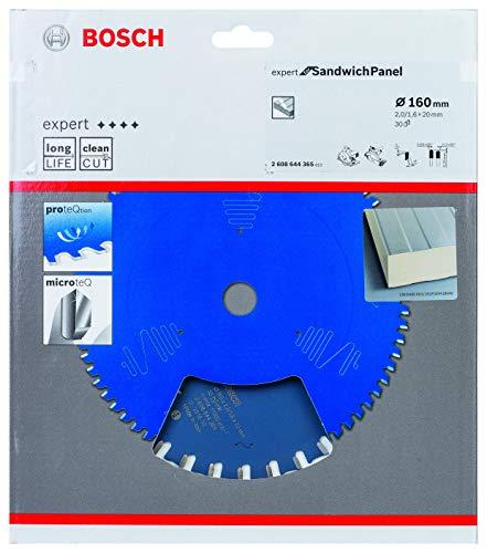 Bosch Professional 2608644365 Expert for Sandwich Panel-Hoja de Sierra Circular (160 x 20 x 2 mm, 30 Dientes), 0 W, 0 V, Color:, Ø 160 mm