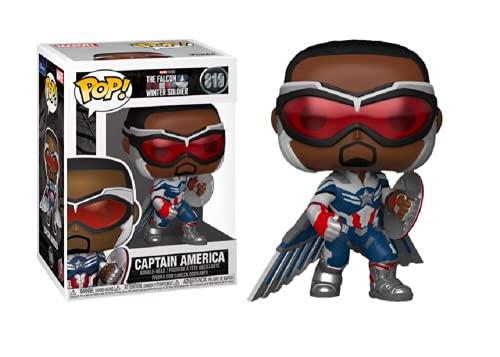 Funko Pop! Falcon y el soldado de invierno Capitán América Wings Action Pose...