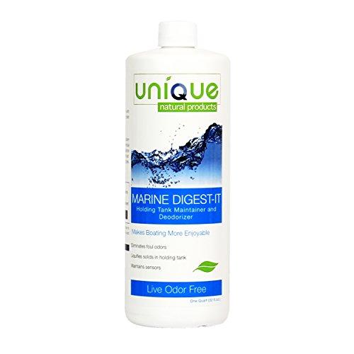 Unique Marine Digest-It Boat Black Water Holding Tank Deodorizer 16 Liquid Toilet Treatments, 32 oz. - 441-1