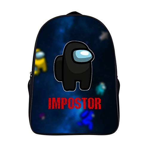Among Us 16 inch double compartment student backpack school bag suitable for boys and girls school college outdoor travel