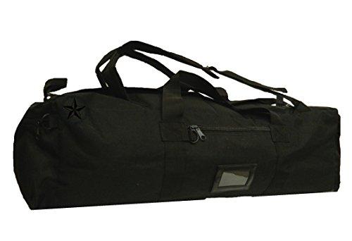 ALGI Borsone Militare Zainibile XL 100 Litri con Tracolla Nero