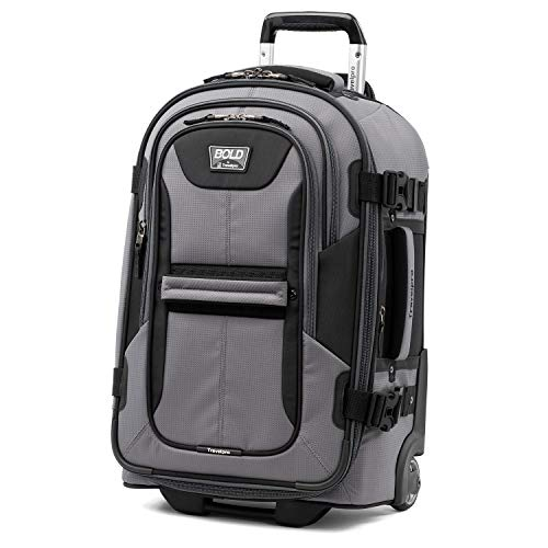 Travelpro Bold-Softside Expandable Rollaboard Upright Luggage, Grey/Black, Carry-On 22-Inch