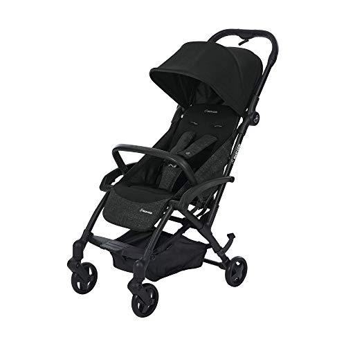 Maxi Cosi Laika Baby-Kinderwagen, ultra-kompakter und federleichter Buggy von der Geburt an, einfacher Faltmechanismus, 0 Monate - 3,5 Jahre, 0 - 15 kg, nomad black/schwarz