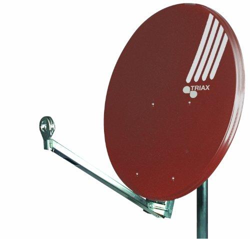 Triax HIT FESAT 85 Satellitenantenne (85 cm Durchmesser Aluminium, 40mm Feedaufnahme Kabelführung vormontiert) Ziegelrot