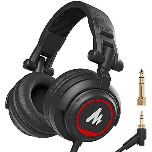 Maono AU-MH501 Over-Ear Studio headphones, Stereo Monitor...