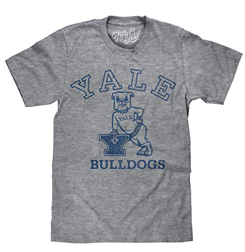 Yale University Bulldogs Logo | Soft Touch Tee-large  Graphite Snow Heather