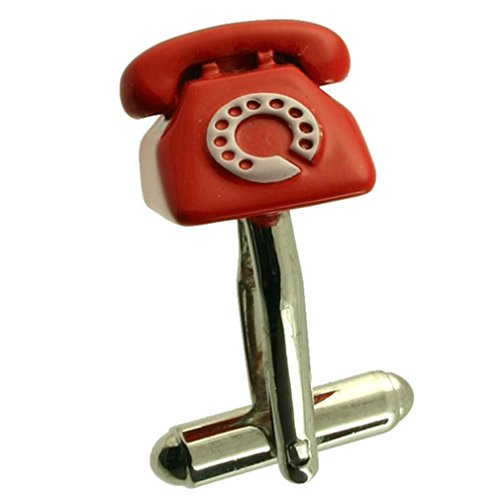 Cuff Links Teléfono gemelos~Teléfono Rojo~PM Gemelos Seleccione bolsa de regalo
