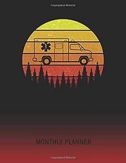 Monthly Planner: EMT Paramedic Ambulance | 2 Year Planning for Jan 2020 to Dec 2021 | Retro Vintage Sunset | January 20 - December 21 | Planning ... | Plan Days, Set Goals & Get Stuff Done