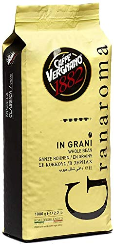 1 kg Caffè Vergnano Granaroma Grani. Aroma Intenso. Coffee Beans Strong