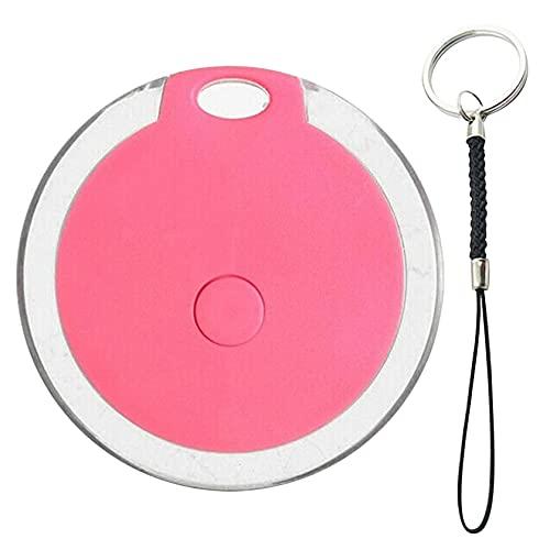 N/AB Mini GPS Tracker, GPS Tracker Für Kinder, Wasserdichter, Tragbarer Anti Verloren Echtzeit GPS Locator Für Katzen & Hund, 4.0 Bluetooth Anti Verlust Alarm Tag, Schlüsselfinder (Rosa)