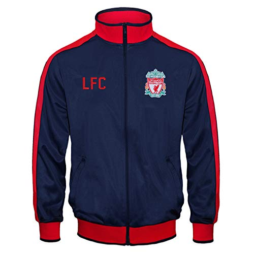 Liverpool FC Official Soccer Gift Boys Retro Track Top Jacket Navy 12-13 Yrs XLB