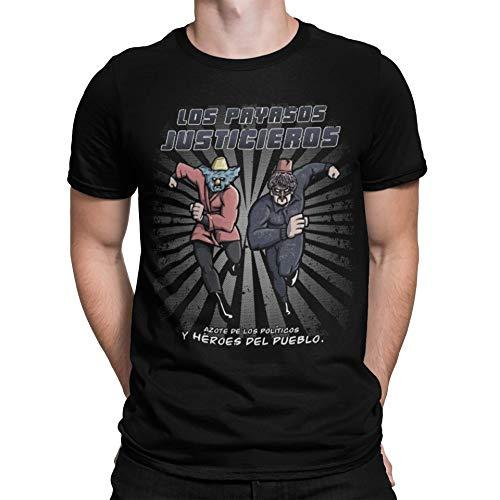 Camisetas La Colmena 508-Camiseta Aqui No Hay Quien Viva - Los Payasos Justicieros (Andriu)