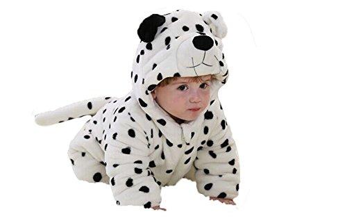 OHmais Bébé Fille garçon Unisexe Grenouillère Costume Deguisement Combinaison Pyjamas Hiver Snow Leopard