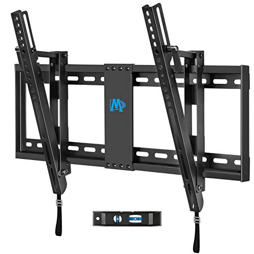 """Mounting Dream Tilt TV Wall Mount TV Bracket for Most of 42-70 Inches TV, TV Mount Tilt up to 20 Degrees with VESA 200x100 to 600x400mm and Loading 132 lbs, Fits 16"""", 18"""", 24"""" Studs MD2165-LK"""
