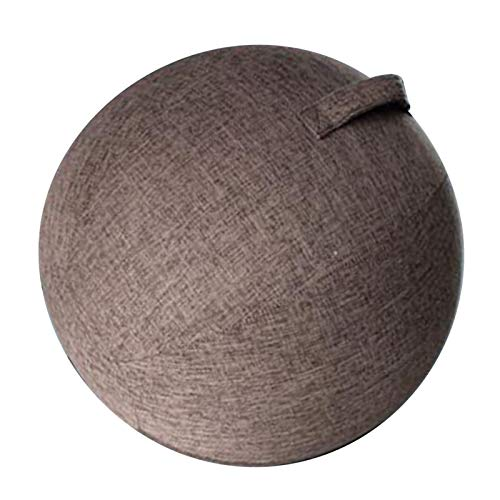 yotijar Yogaball Cover Bezug für Sitzball Fitnessball Yogaball Büroball Balance Gymnastikbälle Staubdichte Skin Bag - Kaffee, 65cm
