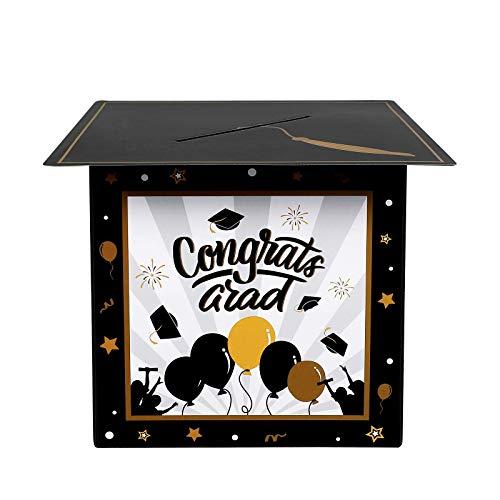 Caixa de cartão de formatura PRETYZOOM 2020 Congrats Grad Gift Box perfeita para formatura, festa, cerimônia de formatura ou festa de aniversário, artigos de festa de formatura