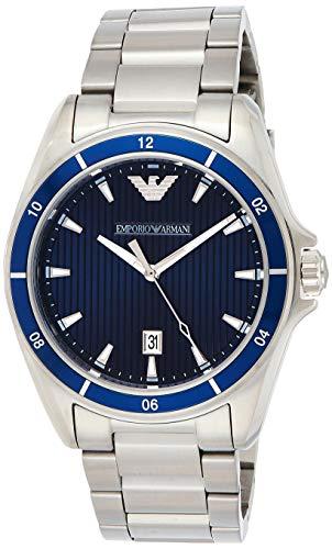 Emporio Armani Herren Analog Quarz Uhr mit Edelstahl Armband AR11100
