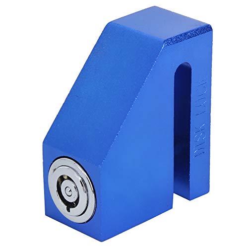 Portátil Desct Freno Cerrar con llave, Azul Desct Cerrar con llave Alarma Disco Freno Cerraduras Hecho de Acero por Scooter Bicicleta Moto