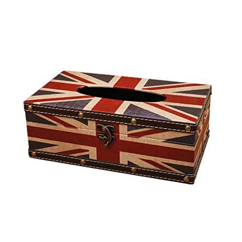 MOPKJH Cajas para pañuelos de Papel Caja para pañuelos de Papel Cajas de pañuelos Soporte de Caja de pañuelos Caja de pañuelos Cubre rectángulo 2