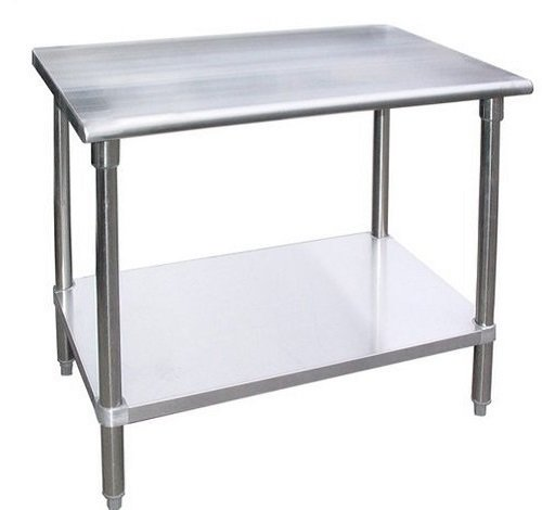 """30"""" X 60"""" AmGood Stainless Steel Work Table with Wheels 