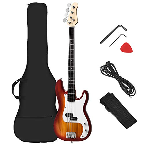 Best Ergonomic Bass Guitar: Costzon Full Size Electric 4 String Bass Guitar for Beginner