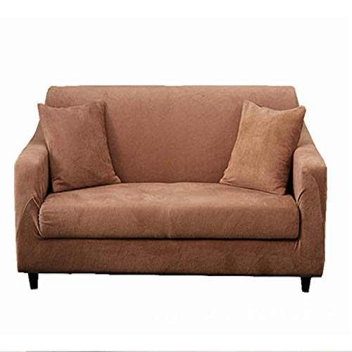 Pure Color Plush Stretch Sofa Cover All-Inclusive Fabric Dirty Sofa Cover Sofa Cushion Suitable For Hotel Living Room Cafe