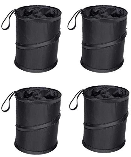 MUYCO 4 Pack Car Trash Can,Portable Trash Bin,Collapsible Pop Up Trash Can for Car,Waste Basket Bin,Rubbish Bin